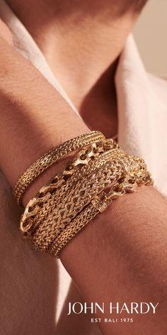 John Hardy, Diamond Jewelry, Gold Jewelry, Jewelery, Vintage Jewelry, Unusual Jewelry, Cute Jewelry, Gold Bracelets, Statement Jewelry