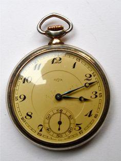 Festa, Antique Pocket Watch, Swiss Made
