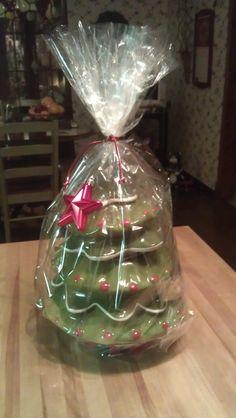Christmas Tree Cookie Jar filled w/Biscotti Cookies