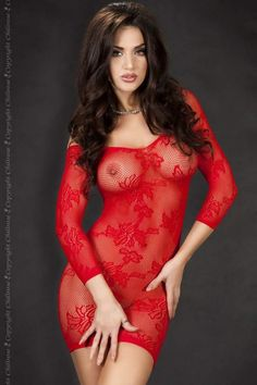 panties,pantyhose,lingerie,girdles and sexy women Red Lingerie, Lingerie Dress, Red Fashion, Womens Fashion, Transparent Clothes, Sensual, Hottest Models, Clubwear, Ta Tas