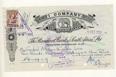 Cheque - Tati Company LTD Matabeleland