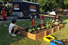 Great way to get the kids outside! | Photo: Ask This Old House TV | thisoldhouse.com | from How to Build a Raised Vegetable Garden