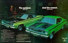 A 1971 Plymouth Duster advertisement