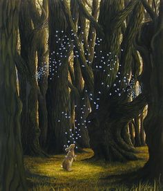 Robert Bissel  -  getting to know each other >> Imaginary Realist Robert Bissell creates a completely different atmosphere from our daily experience, inviting us to learn more about ourselves. In his paintings the world of animals is a mirror for human existence, self-definition and reflection.