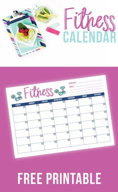 Free Printable Fitness Tracker. I use this fitness calendar to record all my exercise each month.