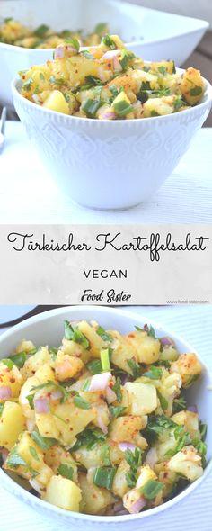 Schneller, einfach, veganer, türkischer Kartoffelsalat für Silvester. Dieser Salat eignet sich super als Silvester Rezept oder andere Anlässe wie Geburtstag oder eine Grillparty.