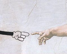 Creation of Mickey - that must be Walt's arm :)
