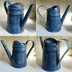"""""""CRAFT Нouse"""" декупаж. лепка. рисование. Home Crafts, Diy And Crafts, Milk Cans, Metallic Paint, Shades Of Blue, Hobbit, Photo Wall, Canning, Watering Cans"""