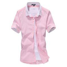 British Style Solid Male Shirt Shirts