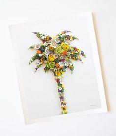 """Palm Tree"" Flower Print"