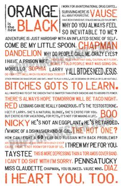 11x17 Orange is the New Black Quote Poster by PoppinsDesign