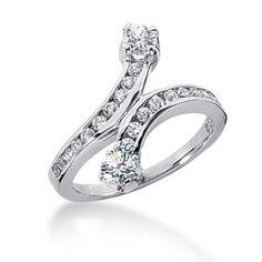 14K Snake Design Round Brilliant Diamond Anniversary Ring (0.8ctw.) Snake Design, Diamond Anniversary Rings, Brilliant Diamond, Engagement Rings, Jewelry, Enagement Rings, Wedding Rings, Jewlery, Jewerly
