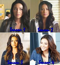 Shay Mitchell as Emily Fields--Seasons 1-4 They all look the same but i pick season 2/3