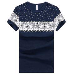 Encontre mais Camisetas Informações sobre Elegante de verão homens do  algodão de manga curta t shirt cd4abcd41b