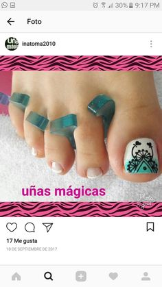 Feet Nails, Toe Nail Designs, Pretty Toes, Toe Nail Art, Manicure And Pedicure, Hair Beauty, Toenails, Work Nails, Enamel