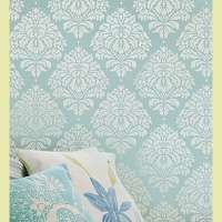 Oversized wall stencils....just when I'm getting tired of my plain walls. I'd do a subtle gloss or tone on tone look.