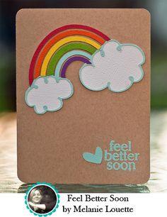 super fun rainbow card....maybe invite w puffy paint