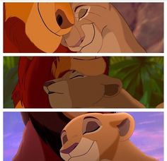 Love in Disney. Mufasa and Sarabi, Simba and Nala, Kovu and Kiara ❤️