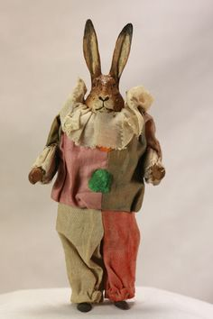 Antique German Wind Up Easter Rabbit C1910 | eBay