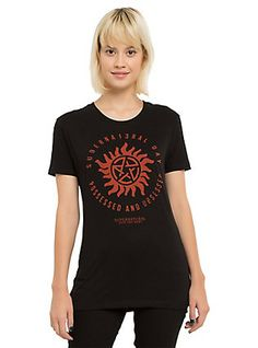 Supernatural Day Girls T-Shirt, BLACK