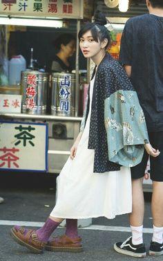 Japon Street Fashion, Japanese Street Fashion, Tokyo Fashion, Harajuku Fashion, Mode Outfits, Fashion Outfits, Womens Fashion, Grunge Outfits, Fashion Styles