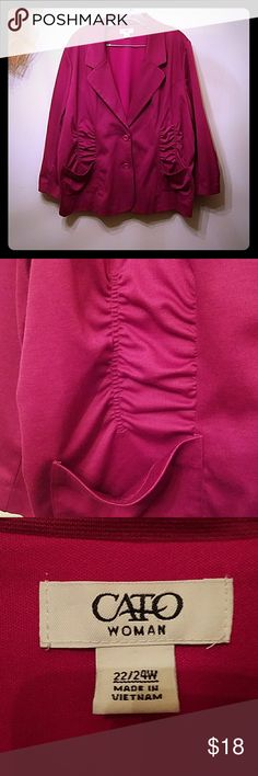 EUC 22/24W Cato Blazer With Adorable Ruching No flaws. I REALLY wish this fit me, it's gorgeous! If you have questions or want more pics, please ask. Cato Jackets & Coats Blazers