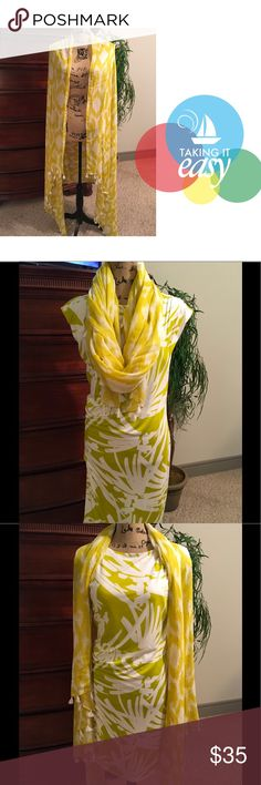 Ann Taylor Shawl Chartreuse green Shawl with tassels. No snags or stains. Never worn. Ann Taylor Accessories Scarves & Wraps
