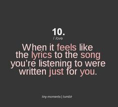 All the time...it's how I relate to the lyrics  ❤️