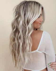 Platinum Blonde Balayage, Platinum Blonde Hair Color, Blonde Curly Hair, Silver Blonde, Blonde Hair Looks, Balayage Hair, Silver Platinum Hair, Platinum Highlights, Platnium Blonde Hair