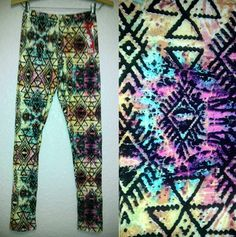 HOT KISS WOMEN'S LEGGINGS-NWT- TRIBAL AZTEC PRINT TIGHTS SOFT YOGA PANTS in Clothing, Shoes & Accessories | eBay