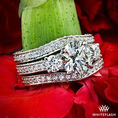 "SHINE on you crazy DIAMOND! Customized ""Coeur de Clara Ashley"" Diamond Engagement Ring"