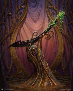 Kaleash, Cimitarra sagrada dos Herossarins. Dizem que pertenceu ao fundador de Varandruil, o irmão mais novo dos gêmeos que foram os primeiros Folhas Escuras. A presença dessa arma afasta as folhas escuras e ela é especialmente poderosa contra eles.