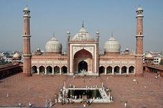 Delhi, India: Jama Masjid courtyard | Flickr - Photo Sharing!
