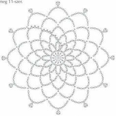 White Crochet Dress and Pattern - SalvabraniAnabelia craft design: 15 minutes made crochet doilies, free pattern Crochet Dreamcatcher Pattern, Crochet Mandala Pattern, Crochet Circles, Crochet Motifs, Crochet Diagram, Crochet Chart, Crochet Doilies, Crochet Flowers, Crochet Stitches