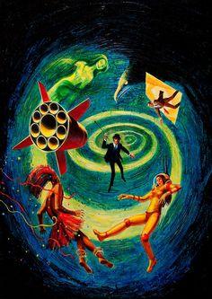 6 x h Paperback Cover, 1963 // Jack Gaughan