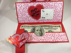 Valentine Money Holder Money Card Christmas Money Card | Etsy Valentine Cards To Make, Valentines, Money Rose, Money Envelopes, Money Holders, Money Cards, Paper Design, Christmas Cards, Card Making
