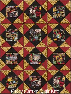 Rare OOP Mary Engelbreit ME Mottos Cherries Scottie Dog Blooms Fabric Easy Pre-Cut Quilt Blocks Top Kit Quilting Squares Vintage Material