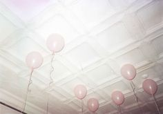 White Ceiling with pink balloons Pink Champagne Wedding, Gia Coppola, Pink Balloons, White Ceiling, Beautiful Mind, The Night Before Christmas, Art Plastique, One Design, Christmas Inspiration