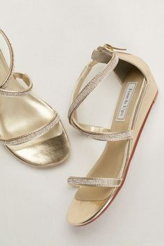 fe2e1477e Moriah from Touch Ups is a fun strappy wedge sandal with a 1 inch heel  made. David s Bridal