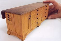 """Tailor's Counter, Canterbury, NH, c. 1825. 1"""" scale. James Hastrich"""
