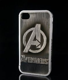 Amazon.com: 86hero Marvel Avengers 3d Silver Iphone Case Cover for Iphone4 and 4s, Avengers Logo: Cell Phones & Accessories