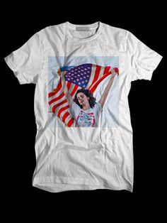Lana Del Rey American Flag Custom T shirts,Band Merchandise,Tees,Clothing,Short sleeve (Made in USA)