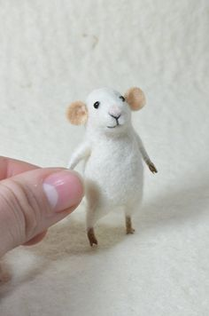 Tiny mouse  Needle Felted Ornament  Felting by feltingdreams, $45.00