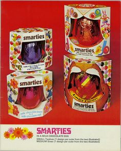 Smarties Easter Eggs from 1976!