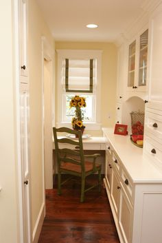 what a great little space for off of an entryway-- could put laundry in the space on the left.