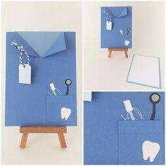 Dentist / Dental Hygienist Scrub / Blue Lab Coat pocket card. Dental School Graduate Card. Tooth card on Etsy, $5.50