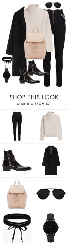 """Untitled #3027"" by theaverageauburn on Polyvore featuring Vanessa Seward, Yves Saint Laurent, Mansur Gavriel, 3.1 Phillip Lim, Boohoo and CLUSE"