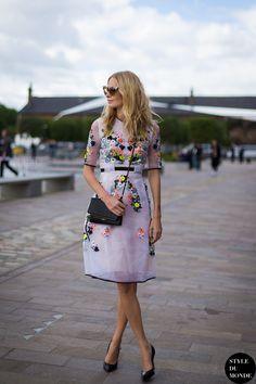 #PoppyDelevingne wearing #erdem  | Photo by style du monde