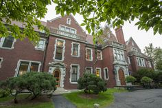 A view of the front of Glensheen mansion. The left door was an entrance for servants while the door on the right was used for the family members and guests