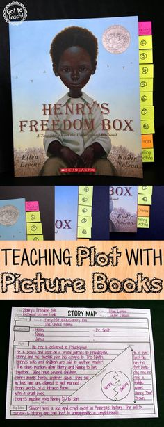 Teaching plot with picture books.  A shared reading lesson that includes a free printable story map.